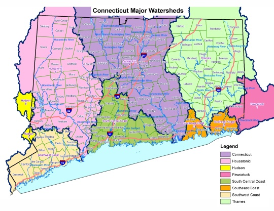 Connecticut Watershed, Provided by DEEP